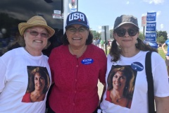 Supporters catching up with Congresswoman Kuster at the Milford Labor Day Parade