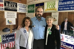 Saying hello to Rep. Williams and Executive Councilor Pignatelli at the Hillsborough County Fair
