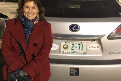 Me posing with my license plate!