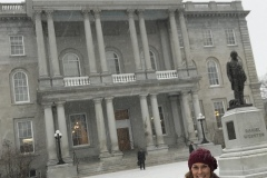 State House in winter