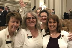 Colleagues after session wraps