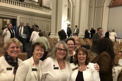 Wearing white for to commemorate Women's Suffrage anniversary.