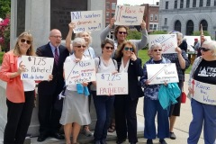 Lunch time with Andru Volinsky and Minimum Wage protestors at the State House