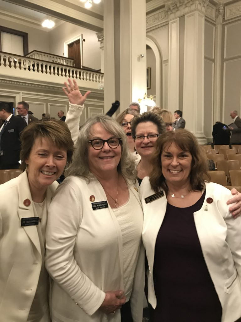 Women in White for Suffrage